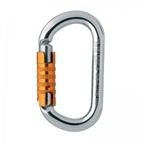 Petzl OK Triact-Lock Ovalkarabiner silber