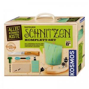 Herbertz Kosmos Bastelbox Schnitzen mit Opinel Kindermesser