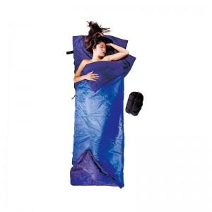Cocoon Tropic Traveler Silk Sommer und Tropenschlafsack Rechteck koppelbar royal blue/tuareg  200x80 cm