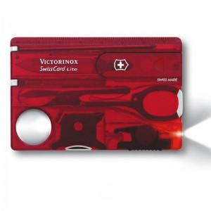 Victorinox SwissCard Lite rot transparent (0.7300.T)