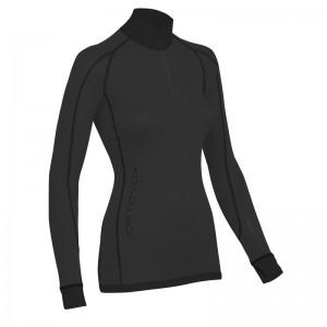 Ortovox Merino Supersoft Long Sleeve Zipper Women black raven