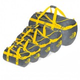 The North Face Base Camp Duffel asphalt grey/leopard yellow