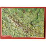 Georelief Reliefpostkarte Rennsteig
