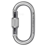 Aliens Karabiner Stahl Total Oval Screw Keylock verzinkt