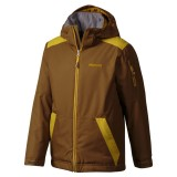 Marmot Boy's Outer Limits Jacket brown moss/green mustard XS