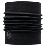 Buff Heavy Merino Wool Neckwarmer solid black