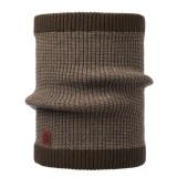 Buff Knitted Neckwarmer Comfort dee brown