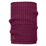 Buff Knitted Collar Buff gribling red plum