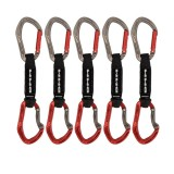 DMM Alpha Sport Quickdraw Express-Set 5 Pack titanium/red 12 cm