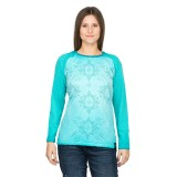 Chillaz Bergamo ornament Longsleeve Women aqua washed L