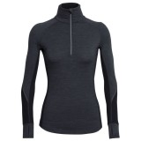Icebreaker Winter Zone L/S Half Zip Women jet heather/black/snow S