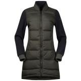 Bergans Oslo Down Hybrid Long Women Jacket seaweed/solid charcoal melange Größe M