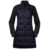 Bergans Oslo Down Hybrid Long Women Jacket dark navy/solid charcoal melange Größe S