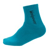 Woolpower Kids Socks 400 Logo dolphin blue 28 - 31