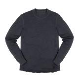 Chrome Wool Crewneck L/S Shirt charcoal Größe M