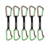 DMM Aero Quickdraw Set Express-Set 5 Pack titanium/green 12 cm