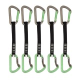 DMM Aero Quickdraw Set Express-Set 5 Pack titanium/green 18 cm