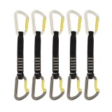DMM Shadow Quickdraw Express-Set silver/lime 5 Pack 18 cm