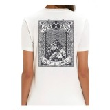 Tinta alpina T-Shirt Logo print back weiß M unisex
