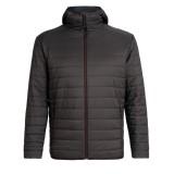 Icebreaker Hyperia Hooded Jacket charred Größe L