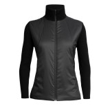 Icebreaker Lumista Hybrid Sweater Jacket women black Größe S