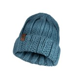 Buff Knitted Hat Vanya sea green