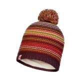 Buff Junior knitted & polar Hat Amity maroon
