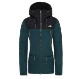 The North Face Pallie Down Jacket Women pon green/black Größe L