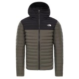The North Face Stretch Down Hoodie new taupe green / tnf black Größe L