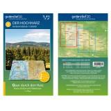 Georelief Wanderkarte Der Hochharz 1:50000