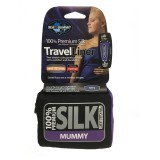 Sea To Summit Premium Silk Strech Liner Mummy (tapered) navy blue