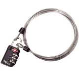 Eagle Creek 3 Dial TSA Lock & Cable graphite