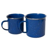 Basic Nature Emaille Tasse blau