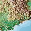Georelief Relief Alpen 1:1,2 Mio mit Holzrahmen