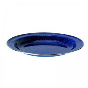 Origin Outdoors Emaille Teller flach 26 cm blau