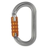 Petzl OK Ovalkarabiner Triact-Lock silber