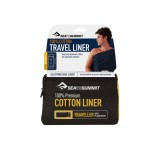 Sea To Summit Premium Cotton Travel Liner Traveller with Pillow Insert navy