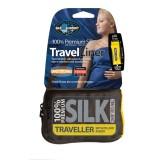 Sea To Summit Premium Silk Stretch Liner Traveller with Pillow Insert navy