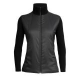 Icebreaker Lumista Hybrid Sweater Jacket women black Größe L