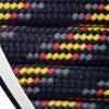Barth Schnürsenkel halbrund 200 cm schwarz/grau/gelb/rot